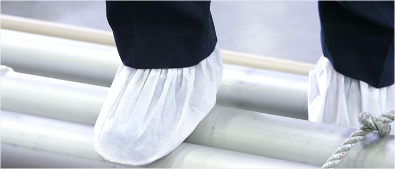 足袋着用でパイプ外面保護